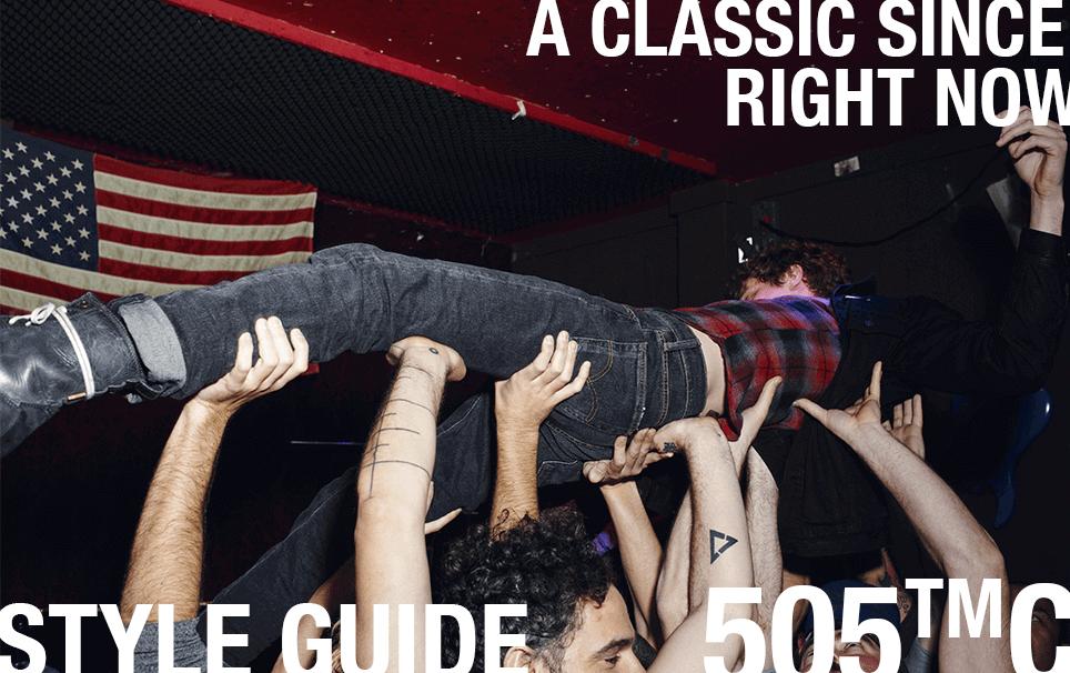 style guide 505c denim jeans levi's