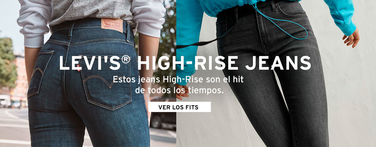 highrise levis jeans mujer tiro alto